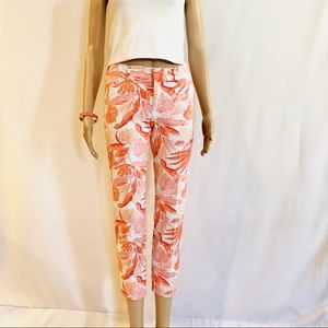 Old Navy Pixie tropical print ankle jeans! Sz.4